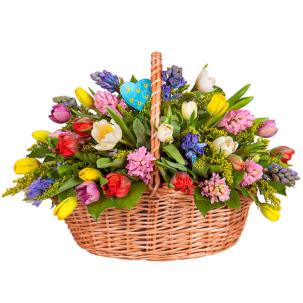 "Корзина с цветами ""Приветствие лета"""